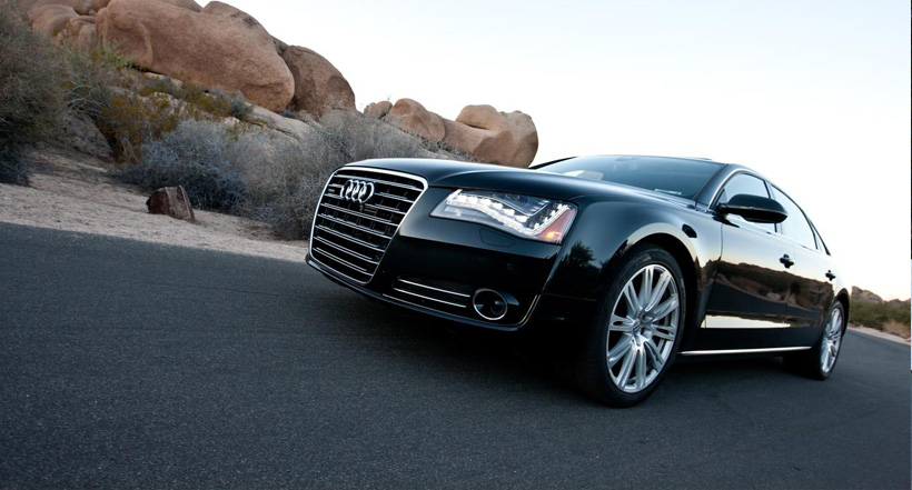 Audi A8L luxurious transportation san diego